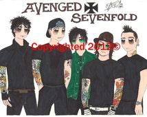Popular Items For Avenged Sevenfold On Etsy