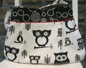Handmade Fabric Bags Purses -  Magnetic Closure - Owl Purse - Happy Mother's Day