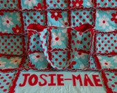 Personalized Rag Quilt Crib Blanket Made To Order