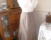 Tawny Brown Wool Skirt -  1940's STYLE - M/L