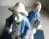 Vintage China Figurines, Old Man and Woman - RushCreekVintage