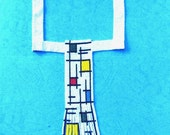 I like Mondrian - handmade necklace