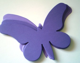 Large Purple Die Cut Butterflies