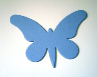 Large Sky Blue Die Cut Butterflies