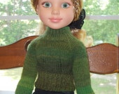 Rain Forest Fitted Ribbed Turtleneck for 18in BFC Girl Doll