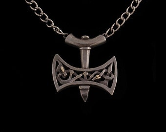 Thors Hammer Mjölnir Pendant with Chain