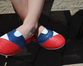 RED SOX hand painted shoes