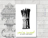 Sweet Asparagus Birthday Card