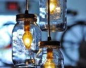 Mason Jar Hanging Pendant Lamp Chandelier