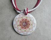 Kaleidoscope of Reds Beaded Necklace