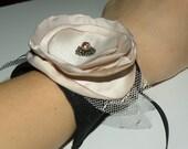 Fabric flower cuff
