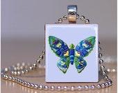 Butterfly - Scrabble Tile Pendants by ThatsSoCoolStudio