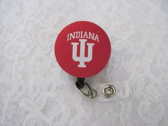 Indiana University Retractable ID Badge Reel - Badge Reels by ThatsSoCoolStudio
