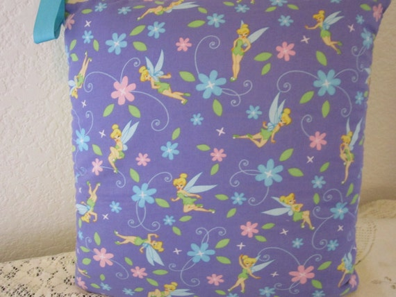 Tinkerbell  - Am I Cute Or What - Baby or Toddler/Child Quillow (Quillo) - Quilt In A Pillow - Travel Quilt/Playmat