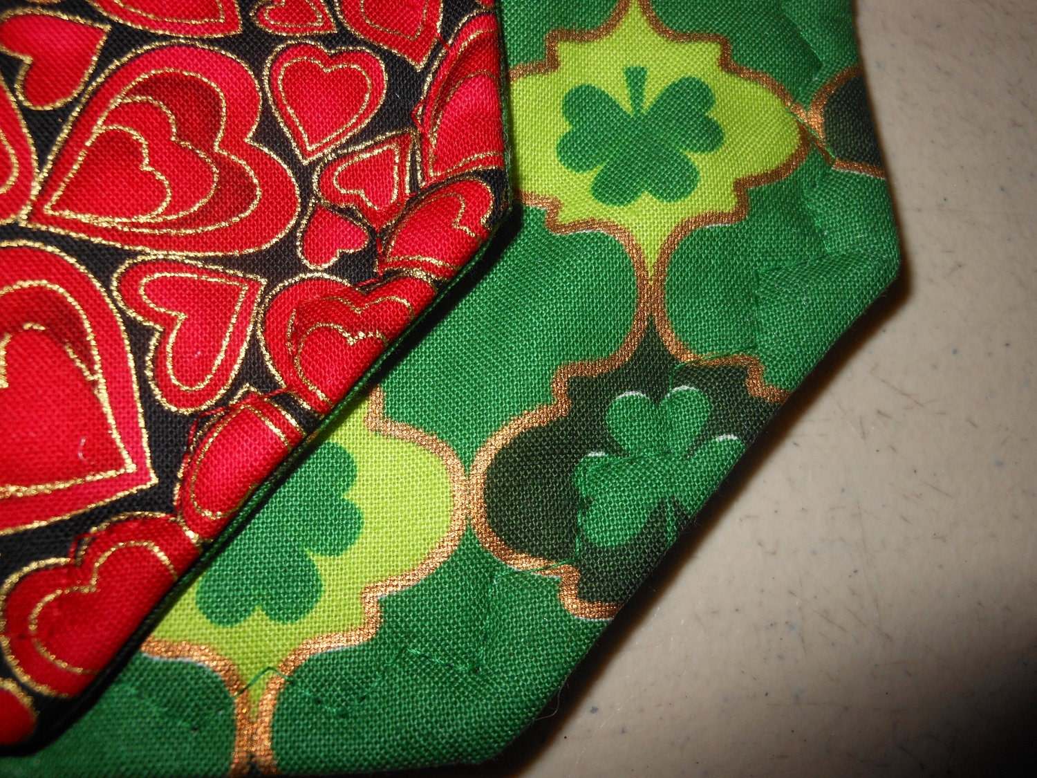placemats reversible valentines day and st patricks day
