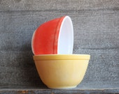 Vintage Cottage Chic Pyrex Bowls Set