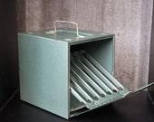 Industrial Vintage Film Reel Case Box Decoration Green