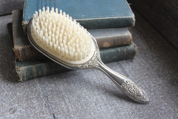 Reserved for Sari Romantic Cottage Chic Vintage Vanity Hair Brush Decor