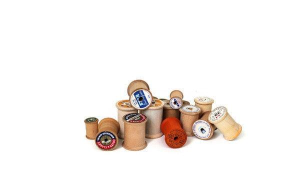 Vintage Wood Spools For Display Decor