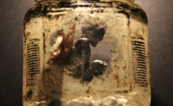 Captured Fairy In A Jar