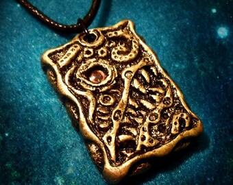 Cosmic Horror Necklace - handmade hp lovecraft gothic design