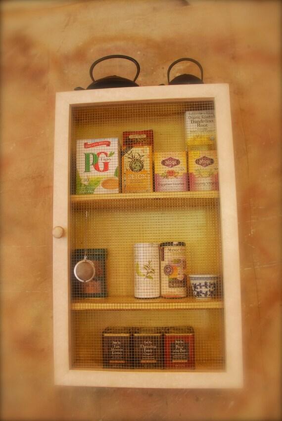 "CUSTOM ORDER for CHELSI - Storage Cabinet - 4.5"" shelf - 3 shelf wood cabinet with wire door"