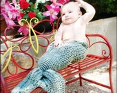 Baby Mermaid or Merman Tail Size 3-12 Months Made To Order Any Color