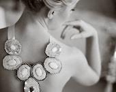 Luxurious bride sequin necklase