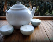 Mini Tea Cup Soy Candles, set of 3 - White Tea & Ginger scent