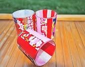 Japanese Origami Washi Tea Light Holders - Set of Three