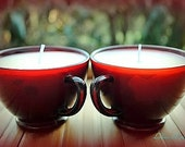 Strawberry Scented Soy Tea Cup Candle