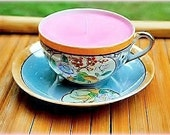 Strawberries & Cream Scented Soy Tea Cup Candle With Saucer