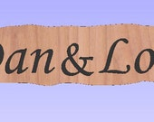 Personalized for Carrie: Carved Cedar Wood Sign