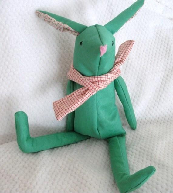 Green Bunny Rabbit Teddy Bear
