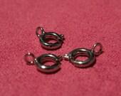 20pcs Dark Silver Spring Ring Clasps 5mm