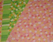 60 Japanese Floral Origami Papers - 3 Assorted Colours