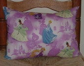 "Child's Stuffed Nap, Sleep Pillow - Disney's ""Princess Scenic Magical Glow"" Fabric with Cinderella"