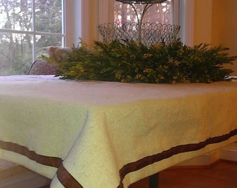 Small Feed Sack Table Cloth/Table Topper/Picnic Spread