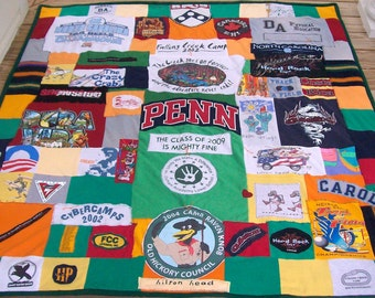 Commemorative Quilts made from your Tshirts, scarves, ties, sweaters, baby clothes & more