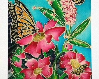 Butterflies in the Garden Batik - Hahnemuhle Archival Art Print on Paper