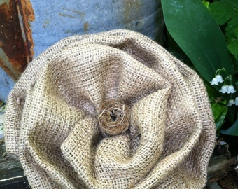 Fabulous Giant Burlap Flower