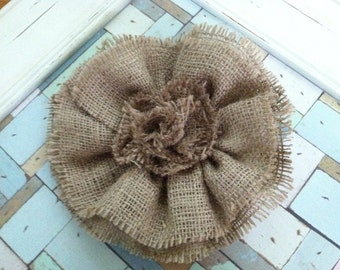 Large Burlap Flower