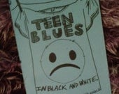 Teen Blues In Black And White (Coloring Book)