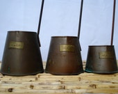 Copper Ladles Dippers (Set of 3), Cider Dippers, Rustic Decor
