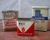 Kitchen Spice Tins, Kitchen Storage Containers