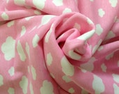 Thick Cotton Jersey Knit Sweet Cloud in Pink 1 Yard 16933OT