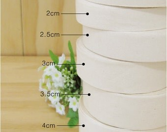 "1 Roll of 3 cm (1.2"") Wide Blank Cotton Label to Make Your Own 81590"