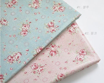 Laminated Cotton Fabric - Pink or Blue - By the Yard 19667 - 294