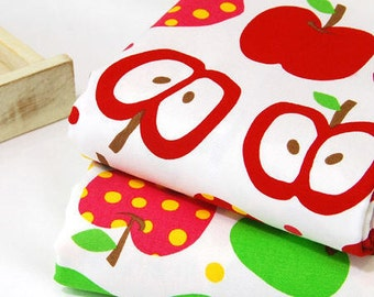 Oxford Cotton Fabric Apples Red or Green per Yard 10703