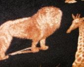 Safari Print No Sew Fleece Blanket